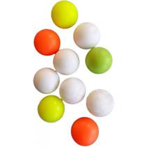tafelvoetbalballen wit/geel/oranje 10 stuks