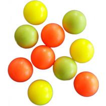 tafelvoetbalballen geel/oranje 10 stuks