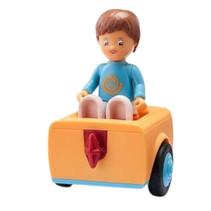 speelgoedauto tussenstuk Adam Addy 6,8 cm geel 2-delig