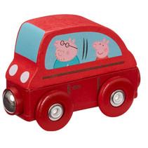 auto Peppa Pig junior 7,5 x 4,7 cm hout rood