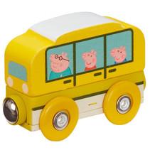 bus Peppa Pig junior 7,5 x 4,7 cm hout geel