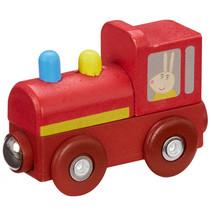 trein Peppa Pig junior 7,5 x 4,7 cm hout rood