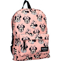 rugzak Minnie Mouse meisjes 6,8 liter polyester roze/zwart