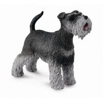 honden: Schnauzer 6 cm zwart/grijs