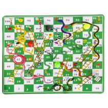 reisspel slangen en ladders spel 16,5 x 9 cm groen
