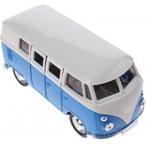 metalen Volkswagen bus blauw 11,5 cm