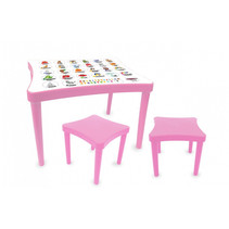 tafelset Easy Learning junior 57 x 41,5 cm roze 3-delig