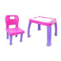 tafelset Lets Study 69,5 x 56,5 cm roze/paars 2-delig