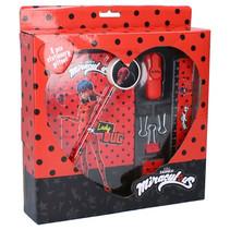 schrijfset Ladybug meisjes rood/zwart 7-delig