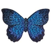 minivlieger vlinder met touw 10 cm blauw/paars