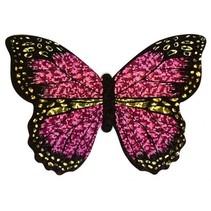 minivlieger vlinder met touw 10 cm roze/zwart