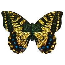 minivlieger vlinder met touw 10 cm zwart/goud