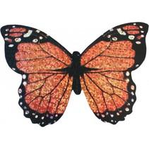minivlieger vlinder met touw 10 cm zalm
