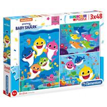 legpuzzel Baby Shark 3-in-1 karton 144 stukjes