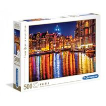 Legpuzzel Amsterdam Bij Nacht HQ 500 stukjes