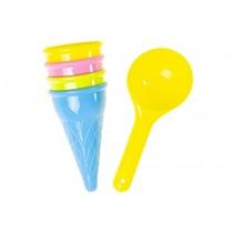 strandspeelgoed ijsjes 5-delig multicolor 15 cm