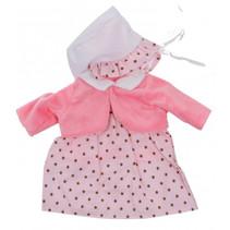 Baby Rose babypoppenkleren stippen 40-45 cm