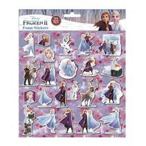 foamstickers Frozen 24 x 20,5 cm 22-delig paars