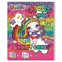 kleurboek Rainbow Hair meisjes 25 cm papier