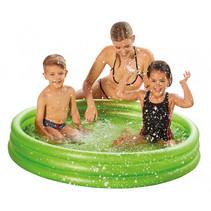 opblaaszwembad junior 122 x 23 cm PVC transparant/groen
