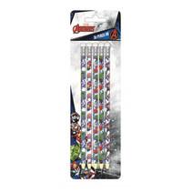 potloden Avengers HB hout wit/blauw 5 stuks