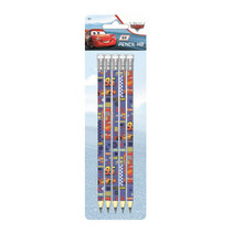 potloden Cars HB hout blauw/rood 5 stuks