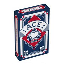 speelkaarten linnen structuur 5,6 x 8,7 cm blauw 55-delig