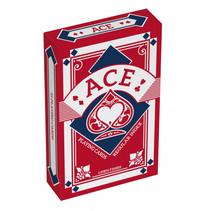 speelkaarten linnen structuur 5,6 x 8,7 cm rood 55-delig