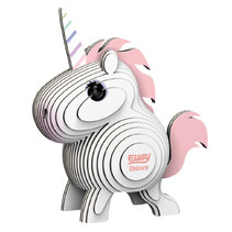 maak je eigen Unicorn junior 8 x 7,1 cm karton wit/roze