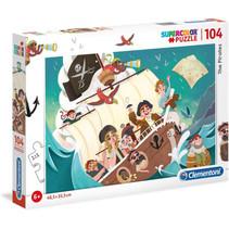 legpuzzel Supercolor The Pirates junior 104 stukjes