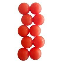 tafelvoetbalballen 10 stuks oranje