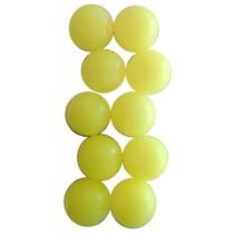 tafelvoetbalballen 10 stuks geel