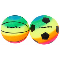 mini sportballenset junior 10 cm PVC 2-delig