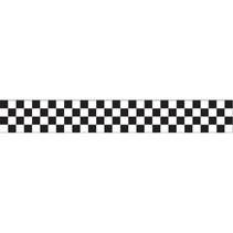 crêpeband geblokt 7 x 914 cm zwart/wit