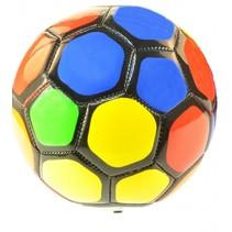 voetbal multicolor 15 cm