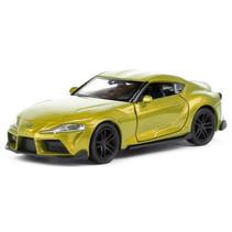 schaalmodel Toyota Supra 11 cm 1:34 staal geel