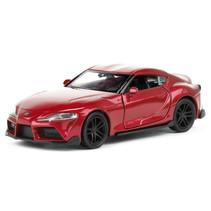 schaalmodel Toyota Supra 11 cm staal rood