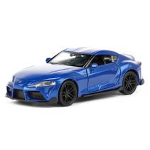 schaalmodel Toyota Supra 11 cm staal blauw