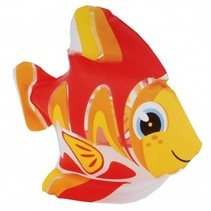 opblaasdier vis rood 24 x 24 cm