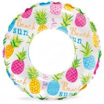 zwemband ananas vinyl junior 61 cm transparant