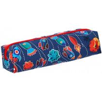etui Raket junior 20 x 5 cm polyester blauw