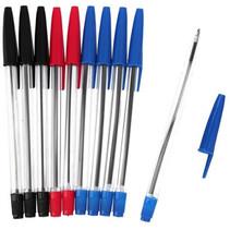 balpennenset 15 cm blauw/zwart/rood 10 stuks