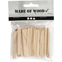 houten ijsstokjes 5,5 cm 50 stuks