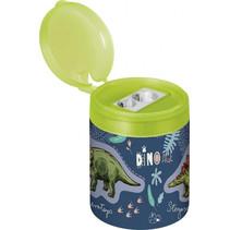 puntenslijper Dino junior 4 x 5,5 cm staal blauw/groen