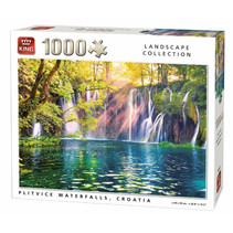 legpuzzel Plitvice watervallen 68 x 49 cm 1000 stukjes