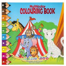 kleurboek at the zoo junior 28,5 cm karton blauw