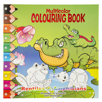kleurboek reptiles & amphibians 28,5 cm karton groen