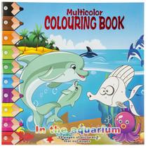 kleurboek quarium junior 28,5 cm karton blauw