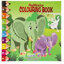 kleurboek at the zoo junior 28,5 cm karton groen
