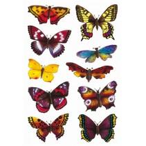 stickers vlinder 20 stuks multicolor